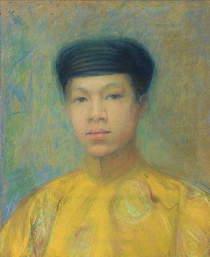 Marie Adelaide Baubry-Vaillant - Portrait of Vietnamese prince Vinh Thuy based on a photo taken in Paris in 1926