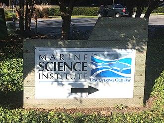 Marine Science Institute (San Francisco Bay) - Image: Marine Science Institute Sign Redwood City
