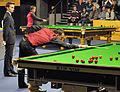 Martin O'Donnell, Mark Williams and Marcel Eckardt at Snooker German Masters (DerHexer) 2013-01-30 02.jpg