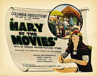 <i>Mary of the Movies</i> 1923 silent film by John McDermott