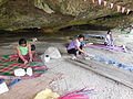 Mat (Banig) Weaving at Saob Cave in Brgy. Basiao, Basey, Samar.JPG