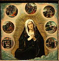 Mater Dolorosa with Seven Sorrows, by Bernard van Orley c. 1491-1542, date unknown - Museum M - Leuven, Belgium - DSC05112.JPG