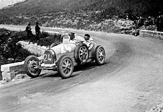 Emilio Materassi - Materassi with Bugatti Type 35 in Targa Florio 1927