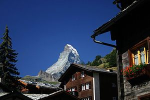 View from the village of Zermatt.