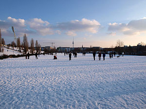 Mauerpark - Mauerpark in Winter 2010
