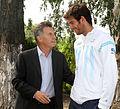 Mauricio Macri con Juan Martín Del Potro previo al choque de Copa Davis con Croacia (7042606087).jpg