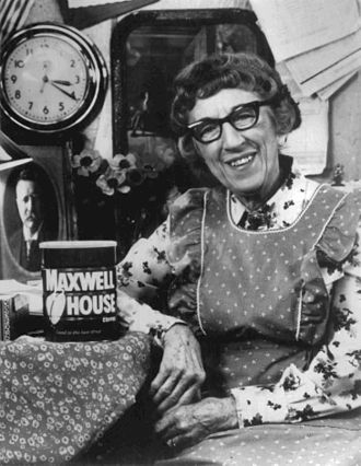 Maxwell House - Actress Margaret Hamilton as Cora, in a Maxwell House commercial circa 1977.