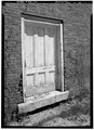 May 1969 DOORWAY, SOUTHWEST ELEVATION - Harris Mill Storehouse, Main and Prospect Streets, Harrisville, Cheshire County, NH HABS NH,3-HAR,2-5.tif