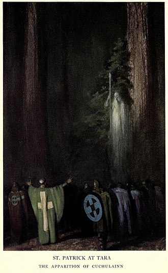 Wallace Arthur Sabin - Maynard Dixon's illustration of the 1909 Grove Play St. Patrick at Tara; music composed by Sabin