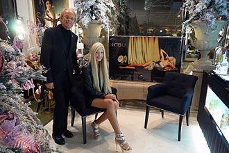Tamara Gee - Gee and Mr. Mazzolari, at the brand opening of Nebu Milano