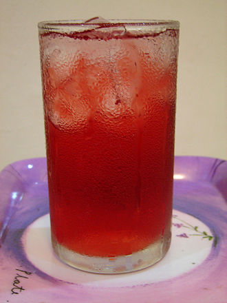 Roselle (plant) - A roselle drink