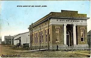 McHenry, Mississippi - State Bank of McHenry, Mississippi, circa 1910.