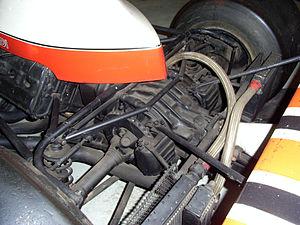 Inboard brake - McLaren M23 rear brakes