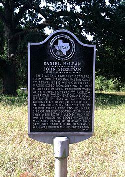 Photo of John Sheridan and Daniel McLean black plaque