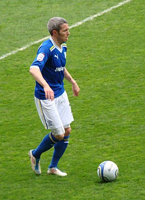 Kevin McNaughton - McNaughton playing for Cardiff City in 2012