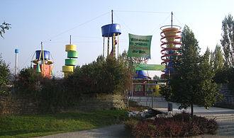 Meckenbeuren - Image: Meckenbeuren Liebenau Ravensburger Spieleland Eingang