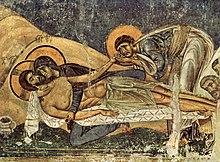 Lamentation of Christ, a Nerezi fresco (1164)