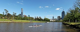 Alexandra Gardens, Melbourne - Image: Melbourne Yarra River