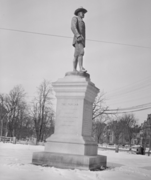 John Bridge monument - Image: Memorial Of John Bridge Cambridge Common Cambridge Massachusetts Side View