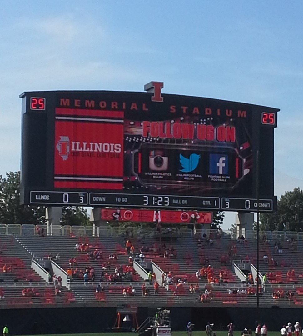 Memorial Stadium New Scoreboard 2013