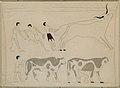 Men Roping a Bull and Driving Cattle, Tomb of Djari MET INST.1979.2.10 EGDP013049.jpg