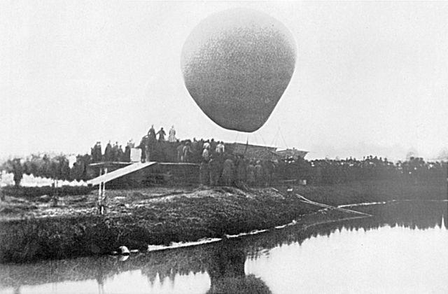Воздушный шар «Русский», на котором Д.И.Менделеев 7 августа 1887 года совершил полёт для наблюдения полного солнечного затмения
