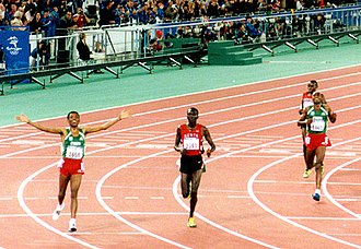 Athletics at the 2000 Summer Olympics – Men's 10,000 metres - Athletes after crossing the finish line