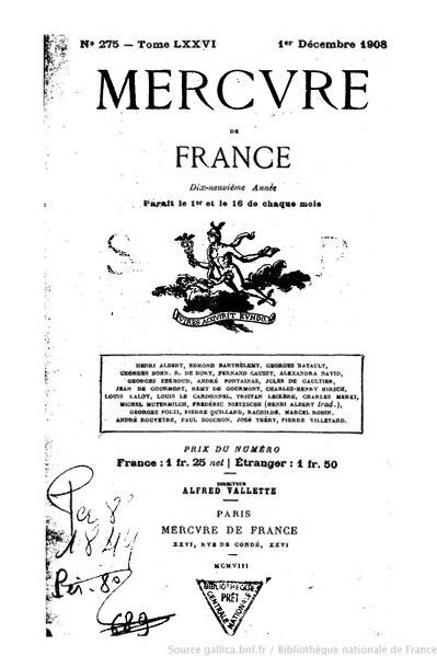 File:Mercure de France, t. 76, n° 275, 1er décembre 1908.djvu