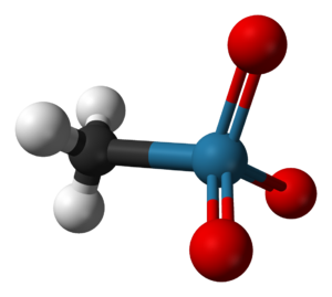 Methylrhenium trioxide - Image: Methylrhenium trioxide 3D balls