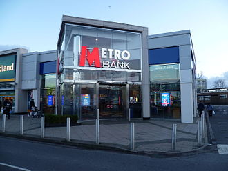Metro Bank (United Kingdom) - Metro Bank stores in Sutton, London (above) and Borehamwood (below)