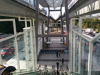 Metrotown station - Escalators at the western entrance