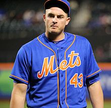 Mets reliever Addison Reed walks off the mound (25780567083).jpg