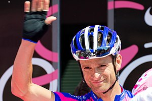 Michele Scarponi - Scarponi before the start of the fifth stage of the 2012 Giro d'Italia