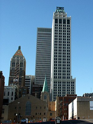 Mid-Continent Tower - Mid-Continent Tower (right) in 2005