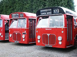 Midland Red buses 5901 (MHA 901F) & 5905 (PHA 505G), BAMMOT, 10 October 2004.jpg