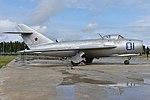 Mikoyan-Gurevich MiG-17F '01 blue' (38048414611).jpg