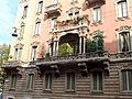 Milano, Via Fratelli Ruffini, balcony.JPG