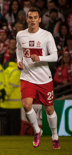Arkadiusz Milik - Milik playing for Poland in 2013.