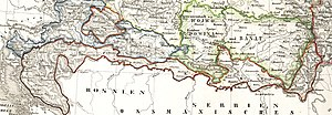 Republic of Serbian Krajina - Map of the original Krajina, the Military Frontier