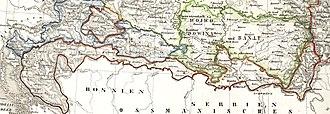 Military Frontier - Image: Militargrenze, Wojwodowena und Banat