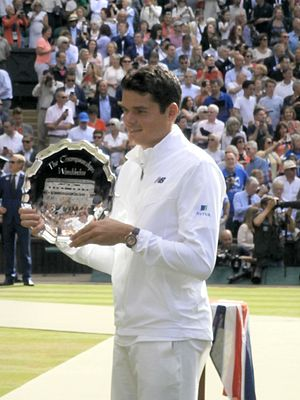 Milos Raonic - Milos Raonic was a finalist at Wimbledon in 2016. This was his first appearance in a Grand Slam final.