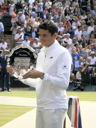 2016 ATP World Tour Finals - Milos Raonic was a finalist at Wimbledon in 2016. This was his first appearance in a Grand Slam final.