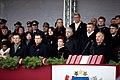 Ministru prezidents Valdis Dombrovskis vēro Nacionālo bruņoto spēku vienību militāro parādi 11.novembra krastmalā (6357768945).jpg