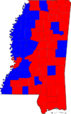 Mississippi Senatorial Special Election Results by county, 2008.png