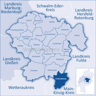 Freiensteinau - Image: Mittelhessen Vogelsberg Fre