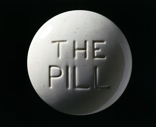 Model of a contraceptive pill, Europe, c. 1970 Wellcome L0059976