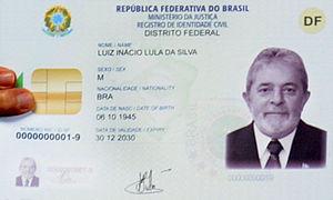 Brazilian identity card - Image: Modelo do novo RG brasileiro