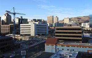Economy of Salt Lake City - Part of Downtown Salt Lake 2005