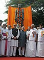 Mohammad Hamid Ansari unveiled the Statue of Late Ms. Annie Mascrene, in Vazhutacad, Kerala. The Governor of Kerala, Shri Nikhil Kumar, the Chief Minister of Kerala, Shri Oommen Chandy.jpg