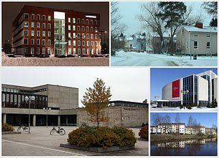 Karjasilta District of Oulu in Finland
